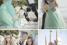 l'Amore è un Gioco / Inspiration Wedding Shoot - Location: Riviera del Conero, Portonovo, Marche - Italy. Metti una giornata di sole, un mare meraviglioso, una scogliera a strapiombo sul mare, la complicità di due innamorati, la sabbia e la voglia di giocare.