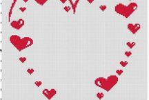 schemi punto a croce love ❤✂️