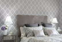 stenciled wall ideas / by Amy Huntley (TheIdeaRoom.net)