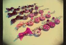 donut / accessori realizzati a mano in fimo!!!