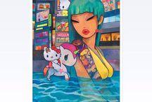 Hello Kitty / Hello Kitty / Some Sanrio and Tokidoki / by Samantha Scrivner