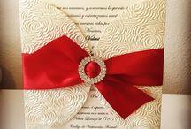 Zaproszenia - motyw czerwony