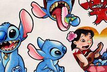 Disney illustrations using Chameleon Pens