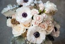 Fleurs / Bouquets aux coloris pastel, fleurs coupées, esprit champêtre, bohème et nature