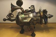 "Object. Sculpture. Craftwork. Ant Mahna´s travel  by Mariana Paulcan. / Steampunk object. Sculpture Steampunk travel. Ant Mahna´s travel from ""steampunk airplane for Ant Mahna"" by Mariana Paulcan. (2013) #Steampunk #MarianaPaulcan #VisualArt #crafwork #AntMahna #illustration #funnysculpture #sculpture"