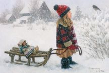 Artist:Robert Duncan / This is one of my favorite artist.  I love children and animal not to mention the country and he captures my thoughts and memories.