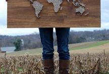 wereldkaart spijkers