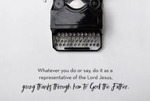 Scripture / Encouraging verses