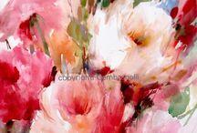 Květy na malbu
