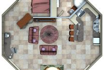 Astuonkampis / Octagon house, round house, circular house... Floor plans, interior view and some ideas for future...