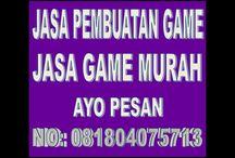 Jasa Pembuatan Game / Jasa Pembuatan Game, Jasa Pembuatan Game Android, Jasa Pembuatan Animasi, Jasa Pembuatan Web, Jasa Service Laptop silahkan hubungi 081804075713