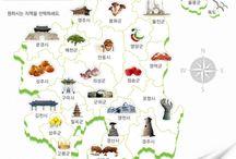 경상북도 / 경상북도의 특징을 나타낸 지도