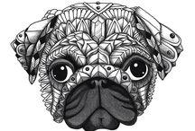 pug draw / I love draw pug