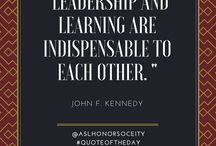 ASL Leadership & Education Quotes / Quotes that represent the mission of Alpha Sigma Lambda - and inspire and motivate our members.