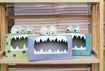Tissue box monsters !