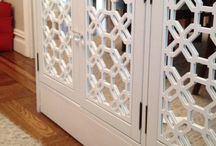 Doors Designs with Mirror & Fretwork