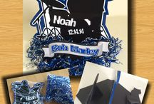 Drum Party Decorations / Music centerpieces and party signs using drum designs