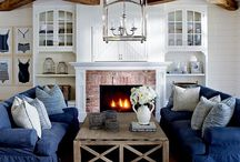 #Interiors - Nautical meets Denim / Coastal inspiration for a clean and simple fresh new room…  A all time British classic.