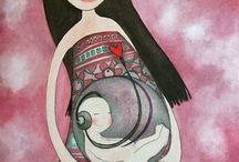 Pregnancy and Childbirth Art! / To satisfy your inner birth-nerd and give a little inspiration.