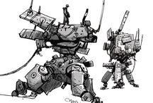Ian McQue Mech Sketches