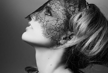 Masks / masked people - photography and painting