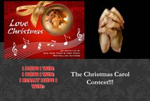Christmas Carol Contest Board - Love Christmas / A Christmas Carol Contest where the prize is getting a book dedicated to you by a best-selling author. Find it here: http://freshfiction.com/contest.php?id=8118