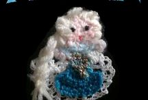 Spille all'uncinetto / Spille realizzate a mano all'uncinetto. Si accettano richieste.   Hand made crochet brooch Disney