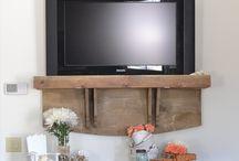Wall mount TV ideas / by Alison Kelli