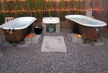 Outdoor bathtubs
