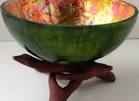 Gourd Bowls by Spirited Touch / Gourd bowls by Spirited Touch.