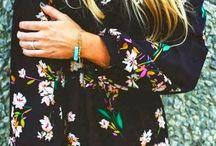 Vestido de flores / Vestido con mangas