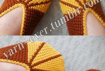 tunician crochet slippers