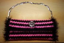 Bolso mano elegante crochet fettuccia