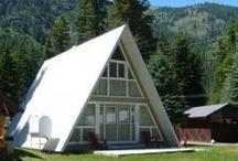 Cabins on resort side of Wallowa Lake