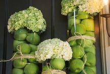 Fleurs décoration de table