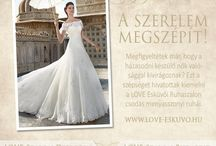 LOVE Promóciók / Promóciók, akciók és ajánlatok a LOVE Esküvői Ruhaszalonoktól. www.love-eskuvo.hu