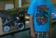 Habitat Helpers Program / Kids created and built shelters for our wildlife creatures.