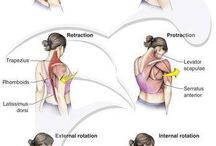 Neck stretches and shoulder