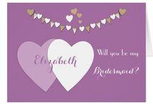 Zazzle ~ Purple Wedding Collection