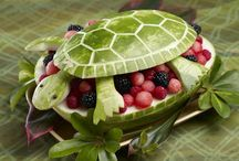 Fun Watermelon Ideas / Fun ways to serve watermelon. Caved watermelon animals, watermelon carvings, watermelon animals, watermelon recipes.  / by Hungry Happenings - holiday recipes and party food