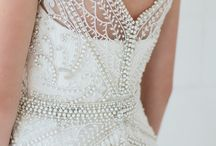 pearl crystal wedding gown