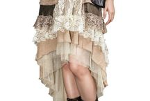 Steampunk Skirts and Dresses / Combining elements of period Victorian fashion with the eclectic appearance of alternative history styles, our women's steampunk skirts cover a broad range of looks for you to enjoy.