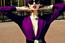 FASHION PHOTOGRAPHY PURPLE AND GREEN