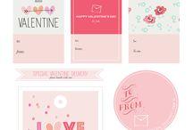 Valentines Tags Printable