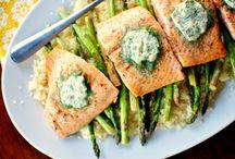 Salmon,shrimps,sea food