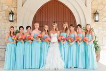 coral and tiffany blue wedding theme