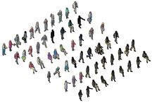 3D People Collection / Download this FULL Collection of over 60 3D CAD Blocks / 3D CAD Models of PEOPLE in 3D view. This CAD drawing comprises people standing , sitting , waving, business people and person in wheel chair.