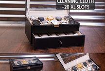 Watch Box & Sun Glass Organizer