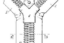"""art du quotidien FERMETURE A GLISSIERE ou Designer ingénieur GIDEON SUNDBACK / Ingénieur Suédois, a mis au point en 1913, et déposé le brevet de  la célèbre  """"FERMETURE ECLAIR""""... inspiré de l'invention et brevet de la """"« fermeture continue et automatique pour vêtements »  crée par   ELIAS HOWE en 1851.  Cette même invention améliorée et brevetée en 1893 par  l'inventeur Whitcomb Judson."""