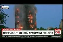 London Massive Building Fire, People Trapped, Jump off Grenfell Tower